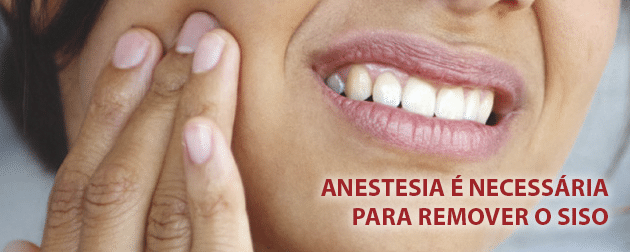 Anestesia é necessária para remoção do dente siso
